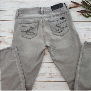 Seven7 | Vintage Style Grey Skinny Jeans